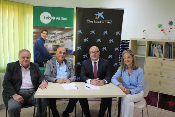 """La Fundació Bancària """"la Caixa"""" dóna suport als projectes socials de TEB Vallès i AFAT"""