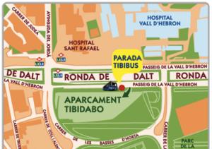 mapa aparcament Tibidabo